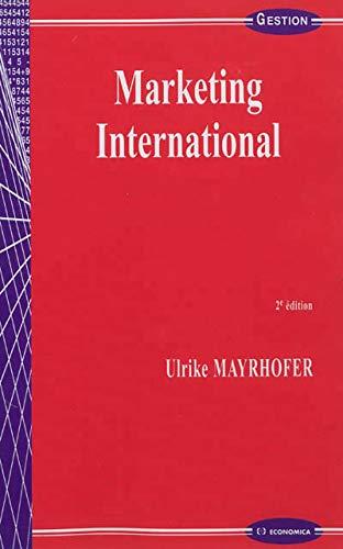 MARKETING INTERNATIONAL: MAYRHOFER 2E ED 2012