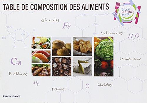9782717865370: Table de composition des aliments