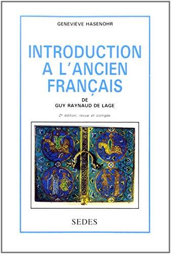 9782718116532: Introduction à l'ancien français