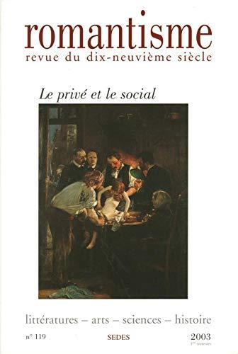 9782718194196: Revue romantisme nø119 1/2003
