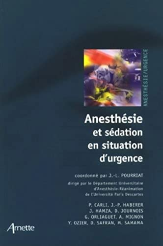 9782718411620: Anesthesie et sedation en situation d'urgence (French Edition)