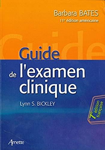 9782718413501: Guide de l'examen clinique