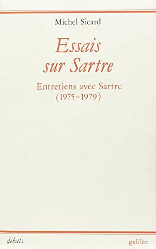 Essais sur Sartre Sartre, Jean-Paul and Sicard,