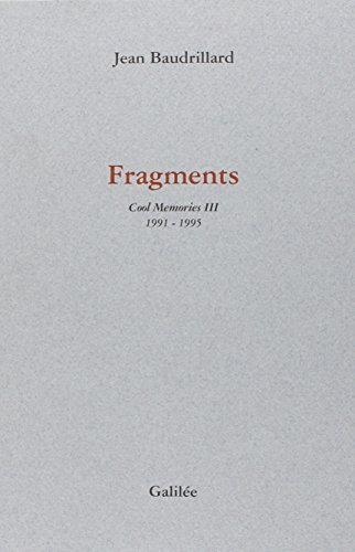 9782718604565: FRAGMENTS. : Cool Memories 3 1991-1995
