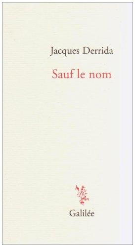 Sauf le nom (9782718607337) by [???]