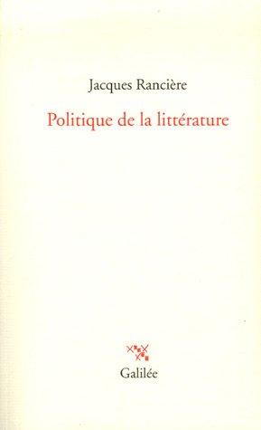 9782718607351: Politique de la littérature (La philosophie en effet)