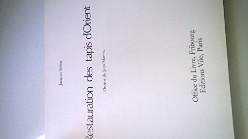 9782719102374: Restauration Des Tapis d'Orient