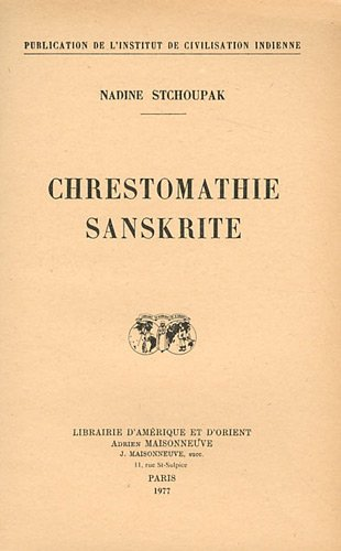 9782720004902: Chrestomathie sanskrite