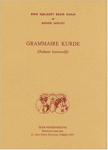 9782720010835: Grammaire kurde (dialecte kurmandji)