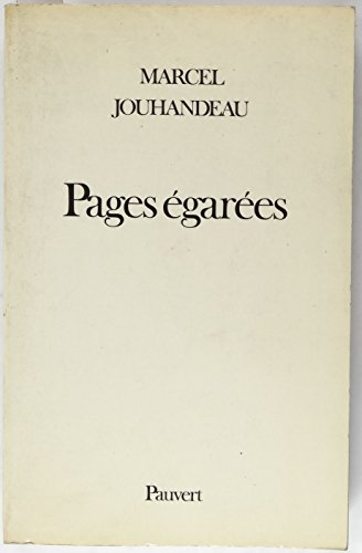 9782720201578: Pages egarees (French Edition)