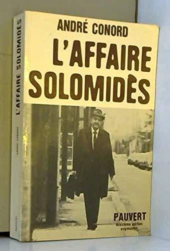 9782720201608: L'Affaire Solomidès
