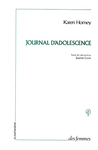 9782721003331: Journal d'adolescence, 1899-1911