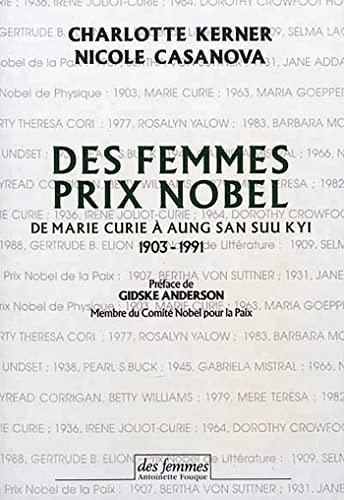 9782721004277: Des femmes prix Nobel de Marie Curie � Aung San Suu Kyi, 1903-1991