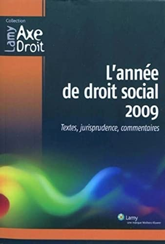 L'année de droit social 2009 (French Edition)
