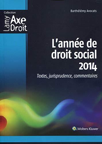 L'année de droit social 2014 : Textes, jurisprudence, commentaires: Pierre-Yves ...