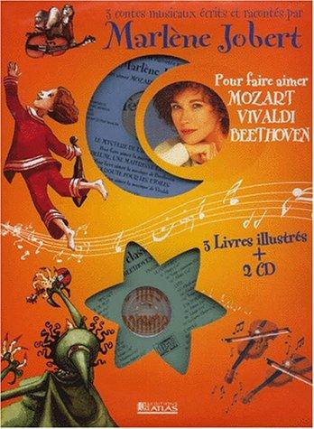 9782723431132: Les Contes Musicaux De Marlene Jobert: 3 Contes Musicaux Pour Faire Aimer Mozart, Vivaldi, Beethoven (Coffret)