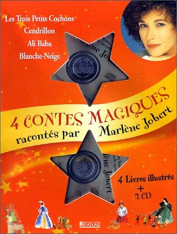 9782723435239: Quatre contes magiques racontés par Marlène Jobert : Les Trois Petits Cochons ; Cendrillon ; Ali Baba ; Blanche-Neige (2CD audio)