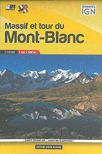 9782723489287: carte en poche ; massif et tour du Mont-Blanc