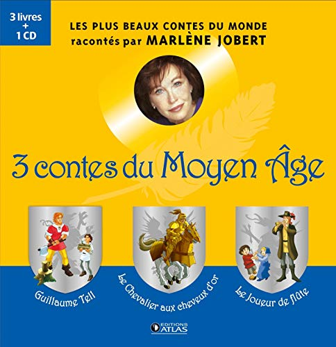 3 CONTES DU MOYEN-ÂGE, 3 LIVRES + 1CD: JOBERT MARLÈNE