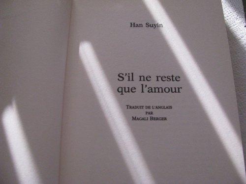 9782724234510: S'il Ne Reste Que L'Amour