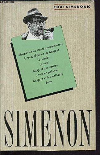 Tout Simenon. Tome 1: Simenon Georges