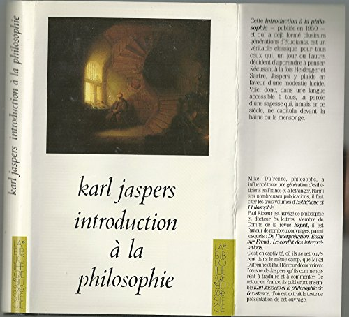 Introduction À La Philosophie [Jan 01, 1965]: Jaspers Karl