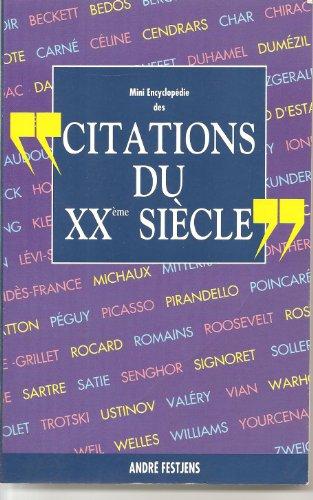 9782724267181: Mini encyclopédie des citations du XXème siècle