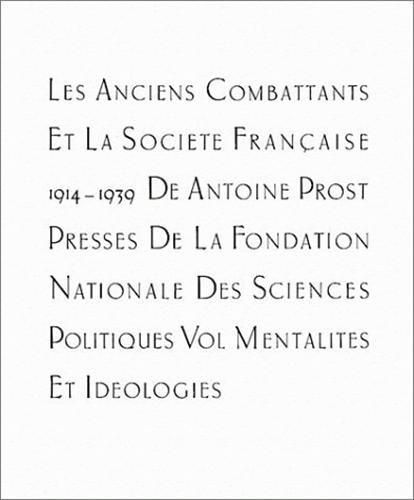 Les anciens combattants et la soci t fran aise 1914 et - Office nationale des anciens combattants ...