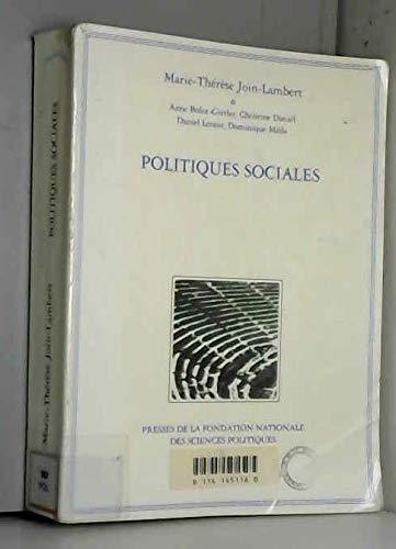 9782724606393: Politiques sociales