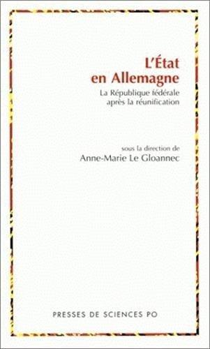 L etat en Allemagne (French Edition): A. Le Gloannec