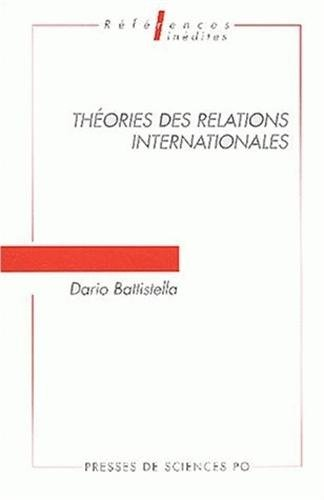 9782724609035: Th�ories des relations internationales