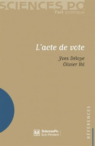 l'acte de vote: Olivier Ihl