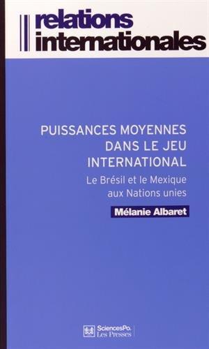 PUISSANCES MOYENNES DANS LE JEU INTERNATIONAL: ALBARET M�LANIE
