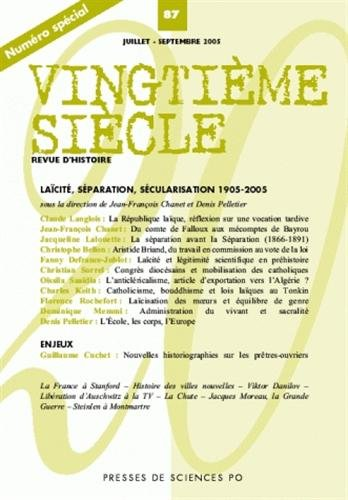 9782724630046: Vingtième siècle, N° 87, Juillet-Septe (French Edition)