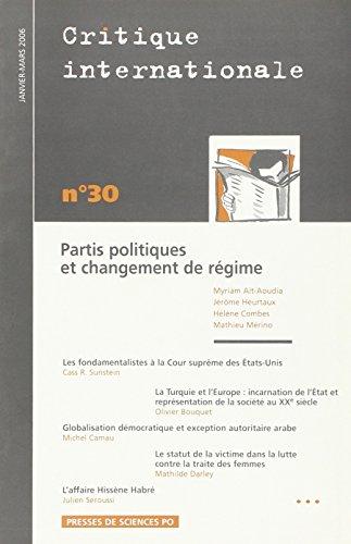 Critique internationale, N° 30 Janvier-Mars 2 :: Collectif