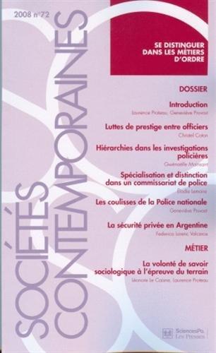 REVUE SOCIÉTÉS CONTEMPORAINES NO72 OCTOBRE-DÉCEMBRE 2008: COLLECTIF