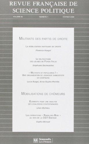 9782724631425: Revue Française de Science Politique Vol59 T1 Fevrier 2009