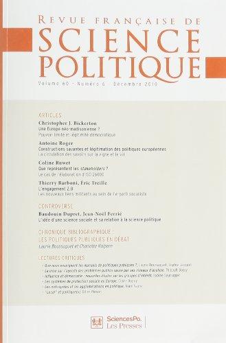 9782724631876: Revue d'histoire des sciences, N° 6 vol 60 :