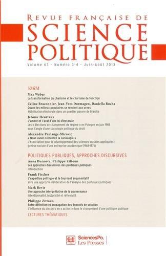 Revue francaise de science politique 63 t.3: COLLECTIF