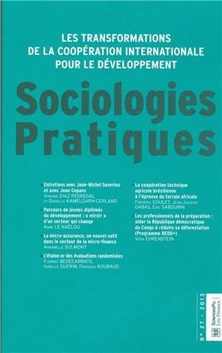 Sociologies Pratiques, N° 27/2013 : Les transformations de la coopération ...