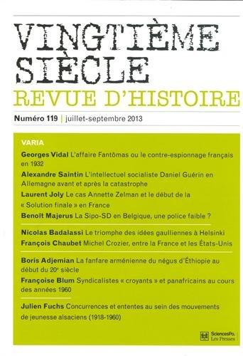 9782724633351: Revue vingtieme siecle t.119