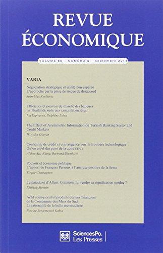 Revue Economique 65 T5