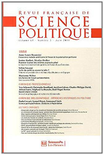 Revue française de science politique, Volume 64 N° 3, Juin 2014 : Varia: Yves D�loye