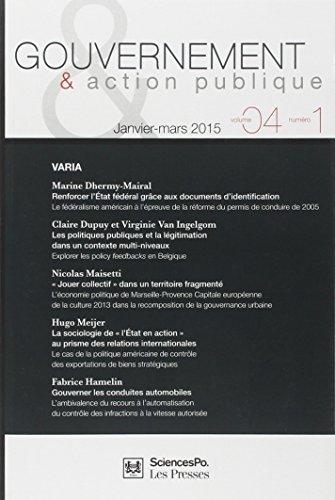 GOUVERNEMENT ET ACTION PUBLIQUE 4 T1: XXX