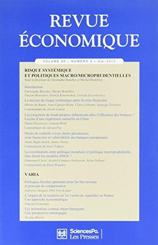 Revue Economique 66 T3