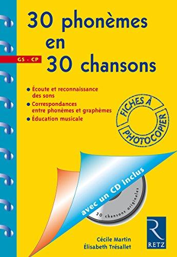 9782725619491: 30 phonemes en 30 chansons CD (Fiche Ressource)