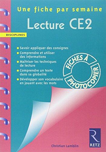 """""""lecture ; CE2 ; fiches à photocopier"""": Lamblin Christian"""