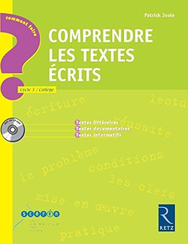 Comprendre les textes écrits (1Cédérom) (French Edition): ...