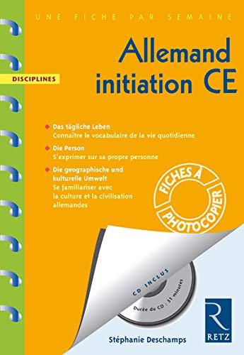 9782725628356: Allemand initiation CE (1CD audio)