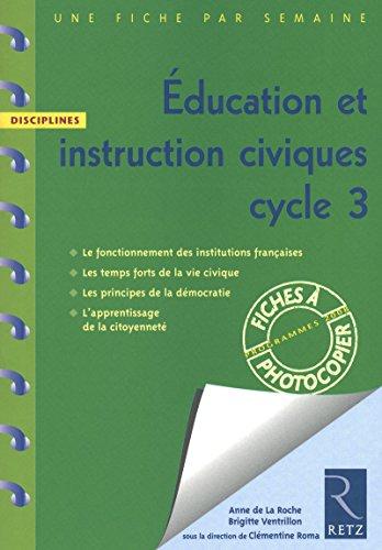 Education et instruction civiques cycle 3: Brigitte Ventrillon